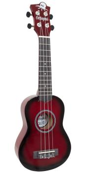 Soprano Ukulele Outfit in Red Burst with Black Bag