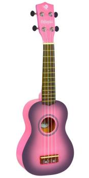 Soprano Ukulele Outfit in Pink Burst with Black Bag
