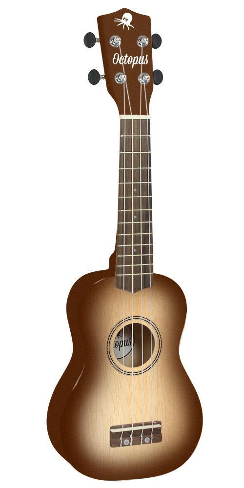 Soprano Ukulele Outfit in Natural Burst with Black Bag