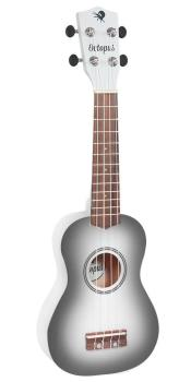 Soprano Ukulele Outfit in White Burst with Black Bag