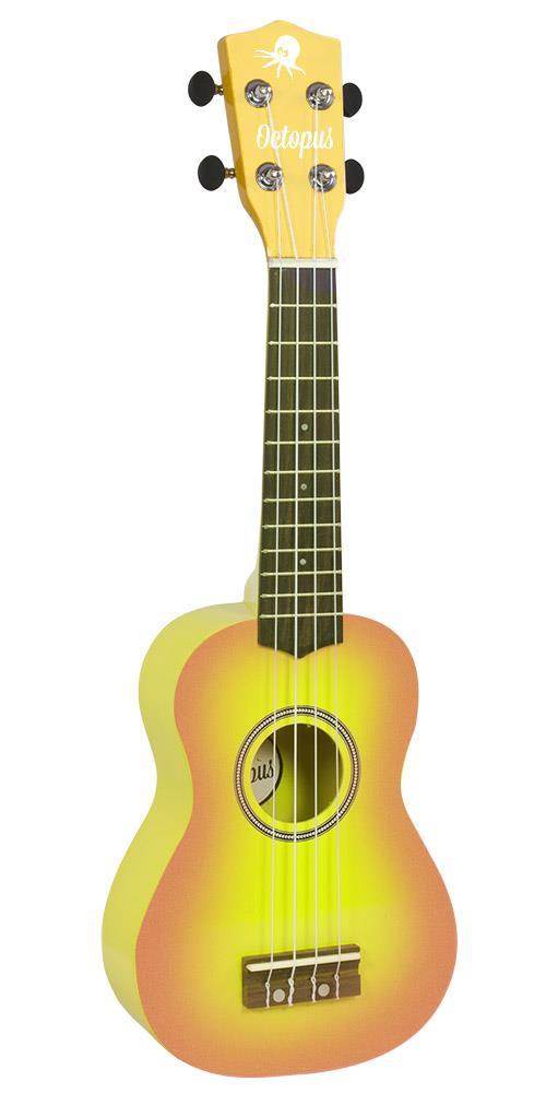 Soprano Ukulele Outfit in Yellow Burst with Black Bag