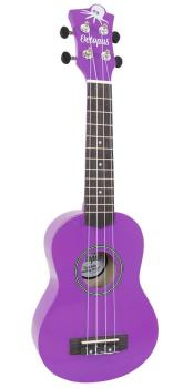 Soprano Ukulele Outfit in Purple Metallic Finish with Black Bag