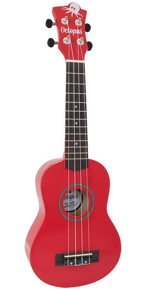 Soprano Ukulele Outfit in Red Metallic Finish with Black Bag
