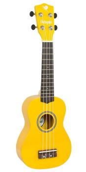 Octopus Soprano Ukulele Outfit in Yellow Natural Finish with Black Bag