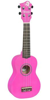 Soprano Ukulele Outfit in Pink Metallic Finish with Black Bag