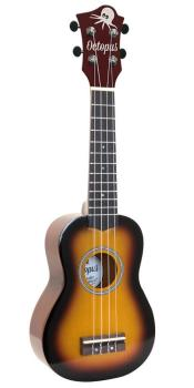 Octopus Soprano Ukulele Outfit in Old Violin Finish with Black Bag