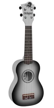 Octopus Soprano Ukulele Outfit in Black Burst with Black Bag