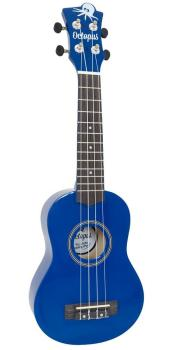Octopus Soprano Ukulele Outfit in Dark Blue Metallic Finish with Black Bag