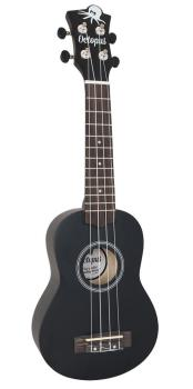 Octopus Soprano Ukulele Outfit in Black Matt Finish with Black Bag