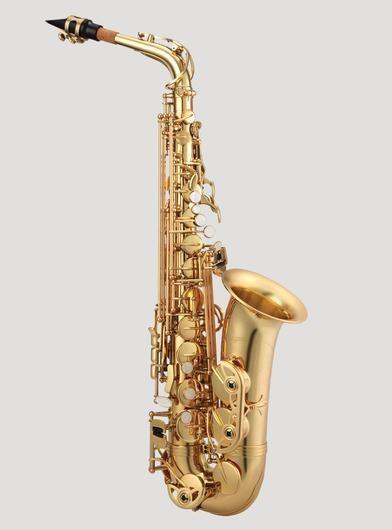 Antigua Alto Saxophone with high F# Lacquer, Contoured Case