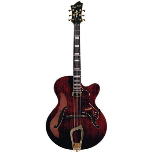Hagstrom Electric Jazz Guitar, Natural Mahogany, Gloss