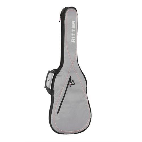 Electric Guitar Bag Silver/Red/White