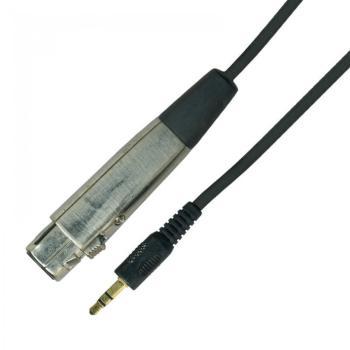 Kinsman 10ft Soundcard Audio Cable 3.5mm Stereo Jack to female XLR Plug