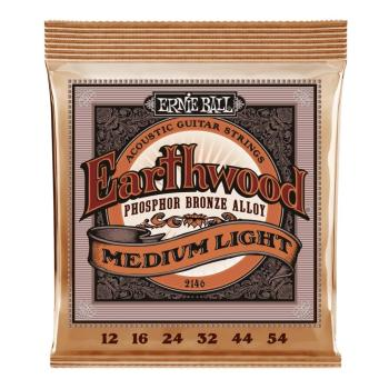 Ernie Ball Guitar Strings EW Phosphor Bronze Medium Light Set
