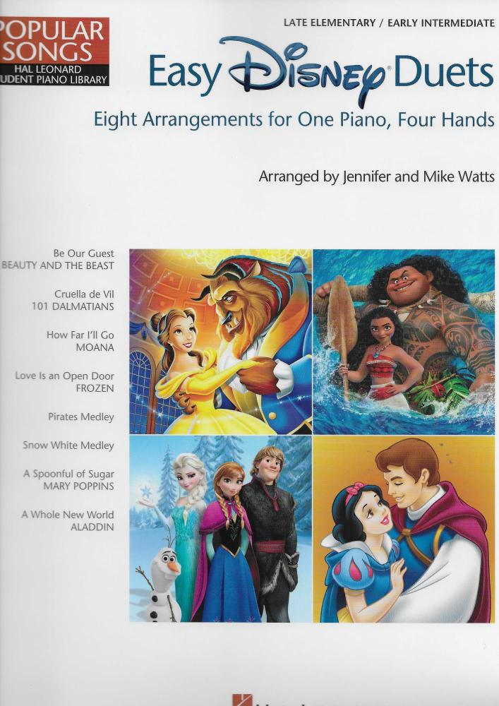 Easy Disney Duets: Eight Arrangements For One Piano, Four Hands