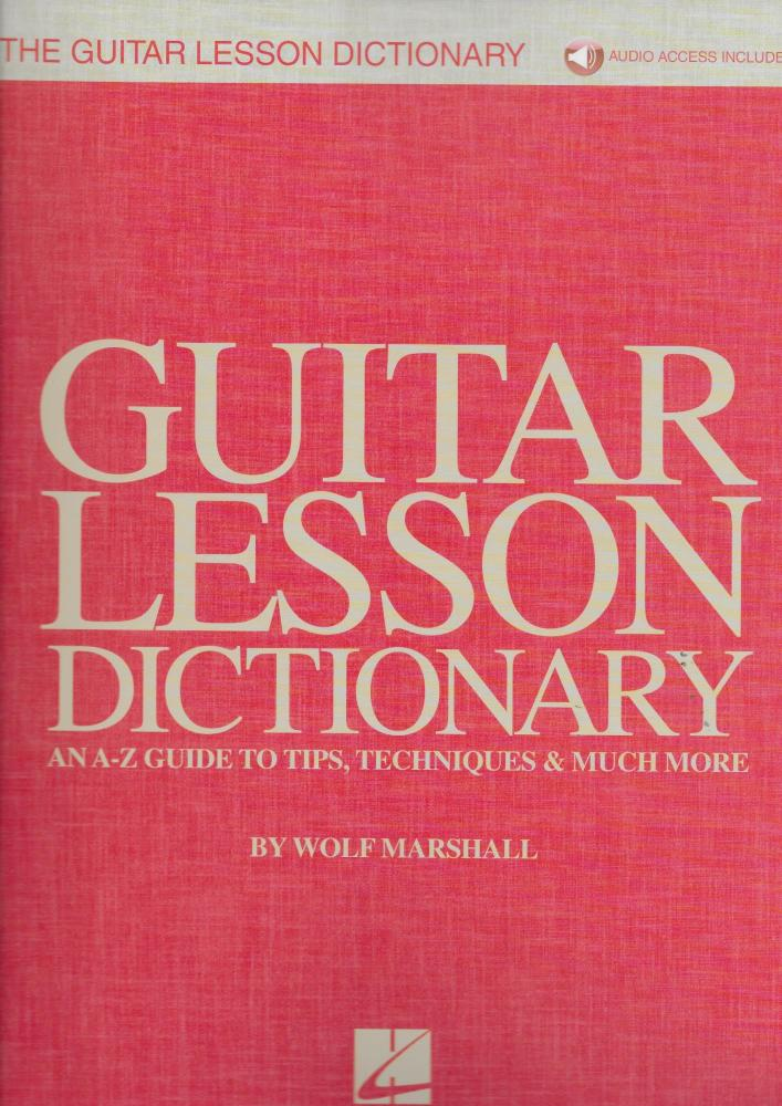 Wolf Marshall: The Guitar Lesson Dictionary (Book/Audio)