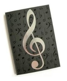 A6 Journals Black/Silver