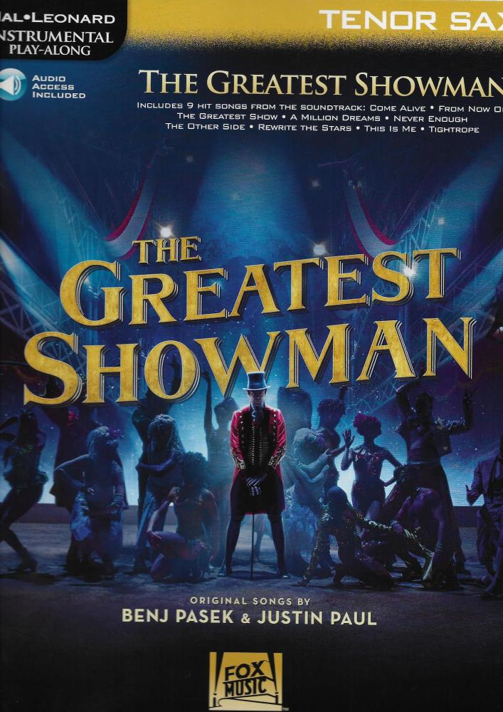 Instrumental Play-Along: The Greatest Showman - Tenor Saxophone (Book/Onlin