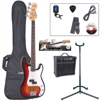 E4 Blaster Series Bass Guitar Outfit - Sunburst