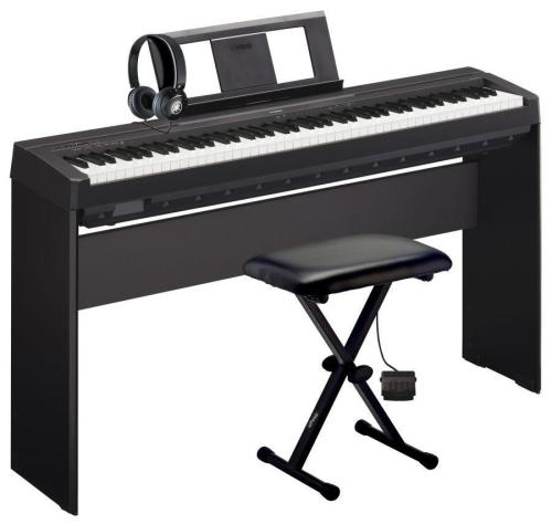 yamaha p45 weighted digital piano deluxe pack. Black Bedroom Furniture Sets. Home Design Ideas