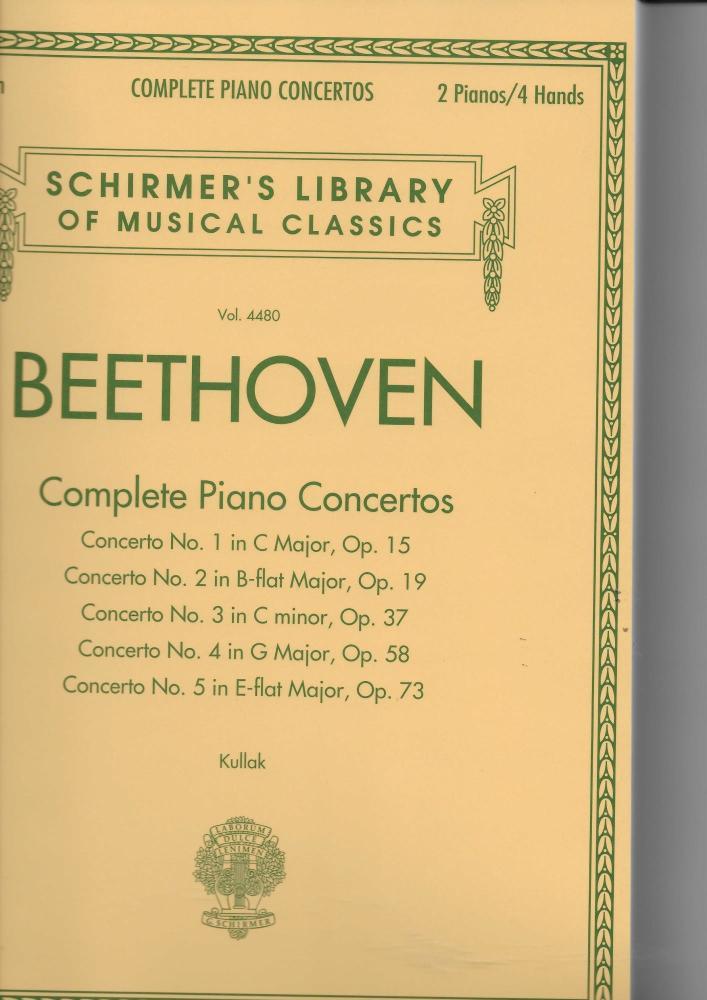 Ludwig Van Beethoven: Complete Piano Concertos (2 Pianos, 4 Hands)