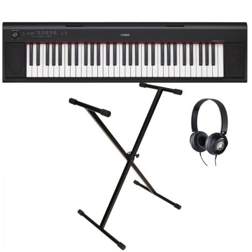 Yamaha Digital Keyboard NP-12B Black Starter Pack