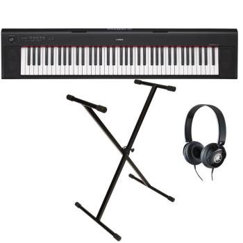 Yamaha Digital Keyboard NP-32B Black Starter Pack