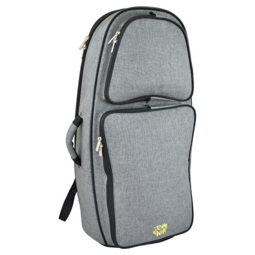 Tom & Will Euphonium Gig Bag - Grey with Red Interior