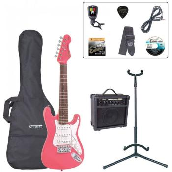 Encore 3/4 Size Electric Guitar Outfit - Pink
