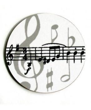 Grey Music Notes Mugmats
