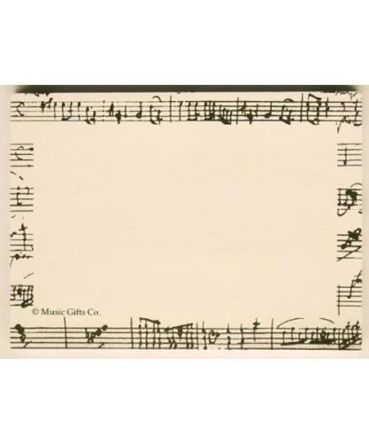 Mozart Manuscript Sticky Notes