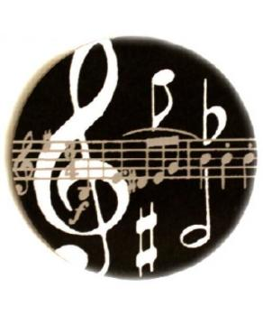 Black Music Notes Mugmats