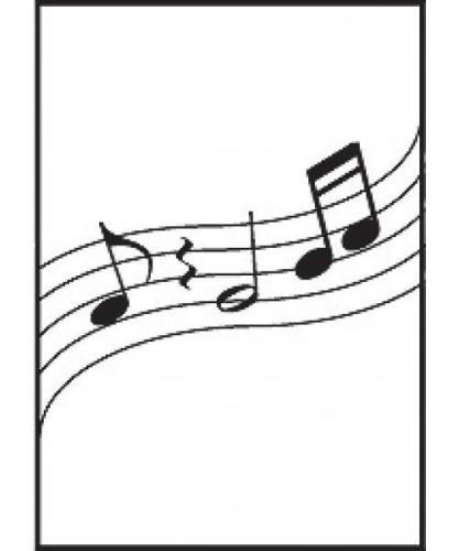 Music Gifts Wavy Music Greeting Card