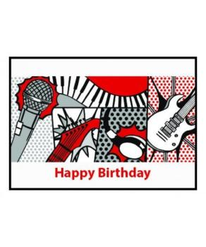 Music Gifts Happy Birthday Pop Art Card