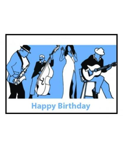 Music Gifts Happy Birthday Blues Card