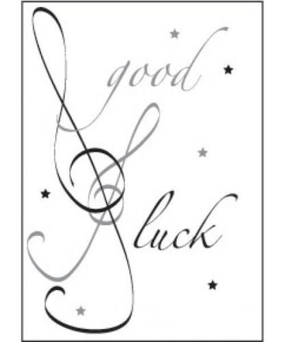 Music Gifts Good Luck Card