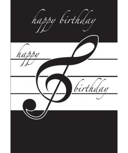 Music Gifts Happy Birthday Card - Blue