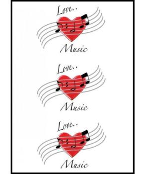 Music Gifts Love Music Greeting Card