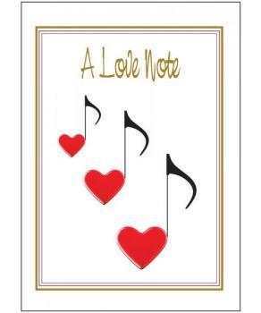 Music Gifts Love Note Greeting Card
