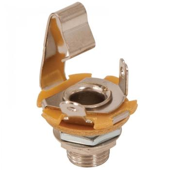 GT Mono Jack Suitable for 1/4inch Jack Plug - Chrome