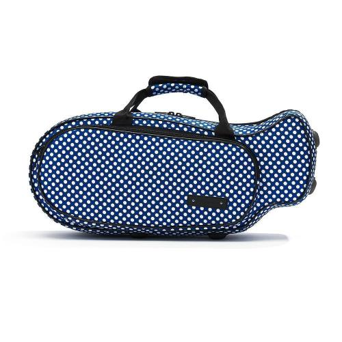 Beaumont Trumpet Case - Blue Polka Dots
