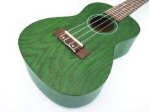 Eddy Finn Natural Ash Concert Ukulele - Green Finish