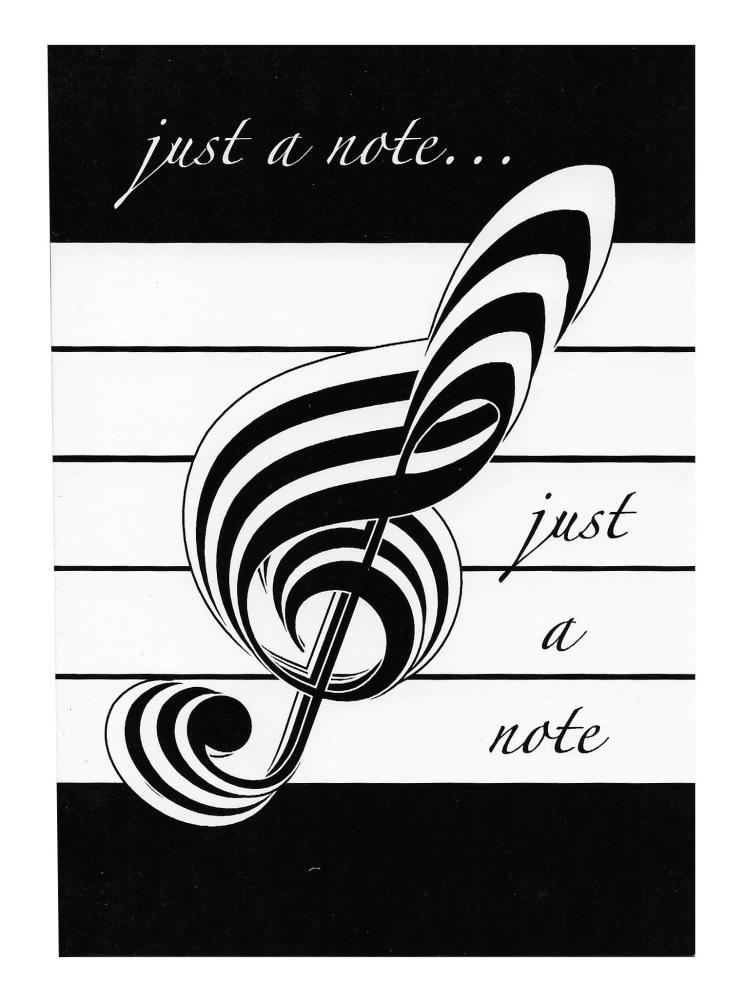 Music Gifts Just a Note Greeting Card