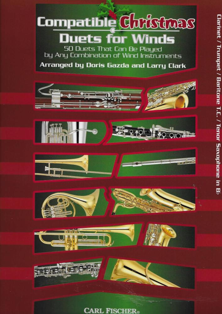 Compatible Christmas Duets For Winds: Clarinet/Trumpet/Baritone Treble Clef