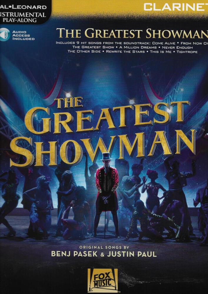Instrumental Play-Along: The Greatest Showman - Clarinet (Book/Online Audio