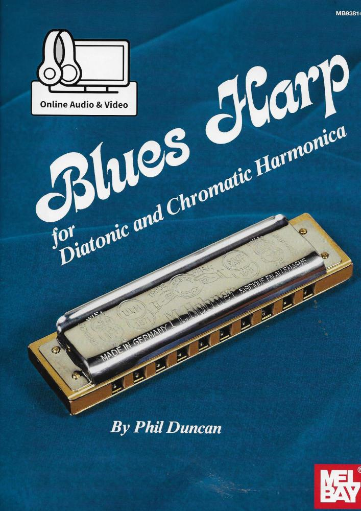 Blues Harp for Diatonic and Chromatic Harmonica by Phil Duncan