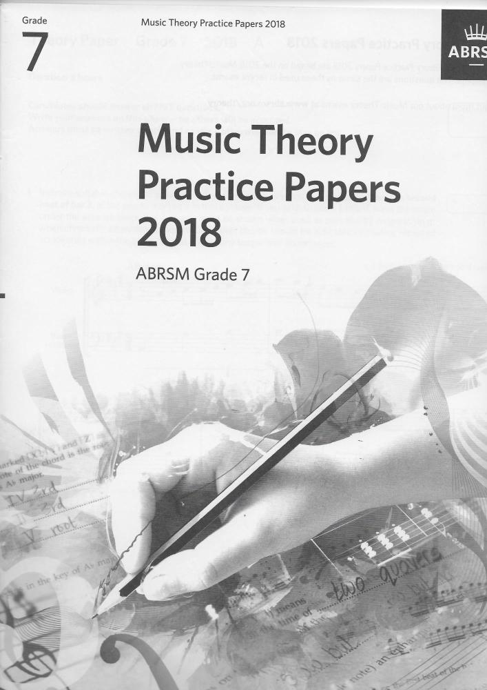 ABRSM: Music Theory Practice Papers 2018 - Grade 7
