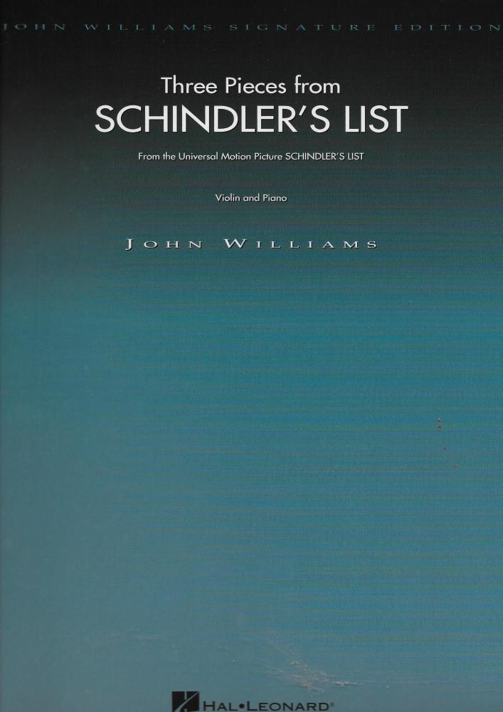 John Williams: Three Pieces From Schindler's List (Violin/Piano)