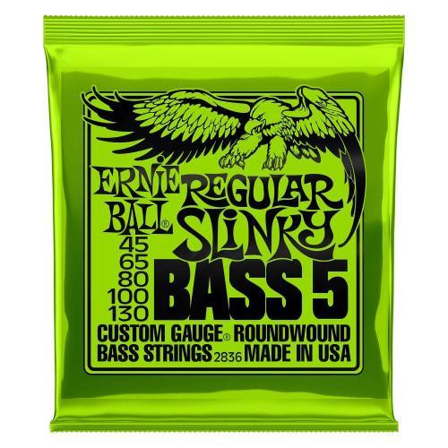 Ernie Ball Guitar Strings Nickel Bass 5 Regular Slinky Set 45-130