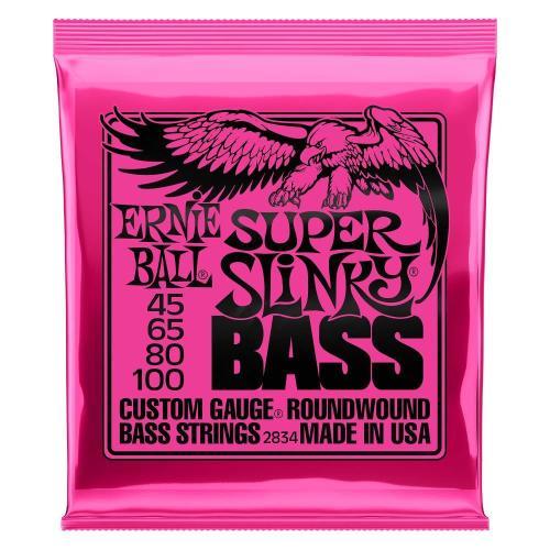 Ernie Ball Guitar Strings Nickel Bass Super Slinky Set 45-100